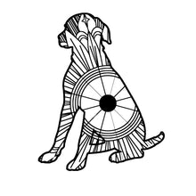 Sitting Dog Mandala SVG