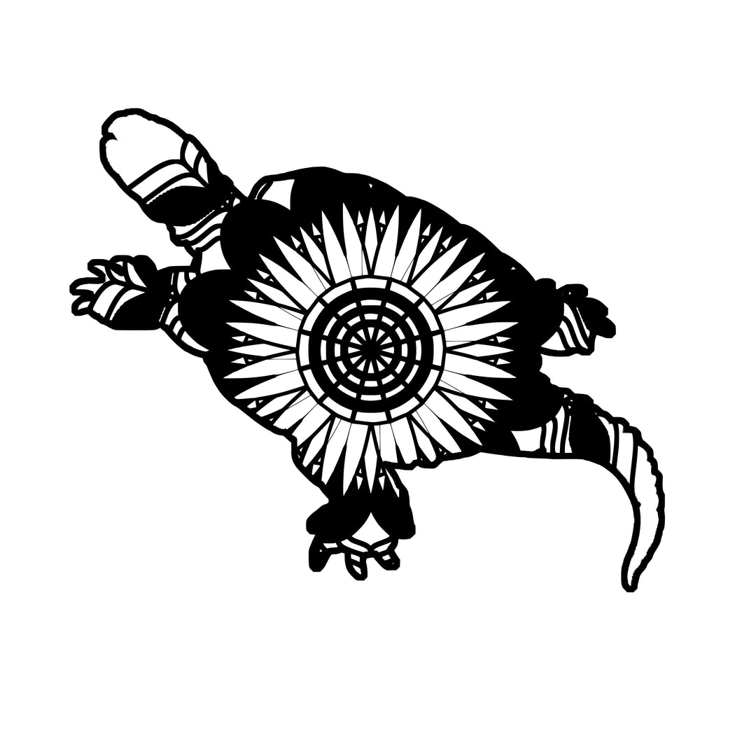 Snapping Turtle Mandala Animals SVG