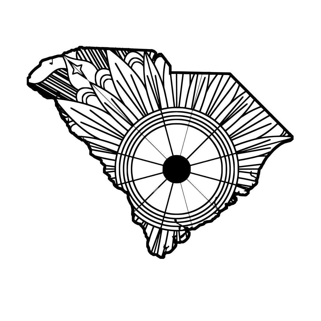 South Carolina Map Mandala SVG