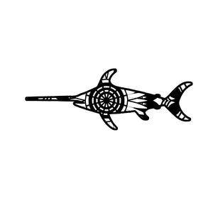 Swordfish Mandala Animals SVG