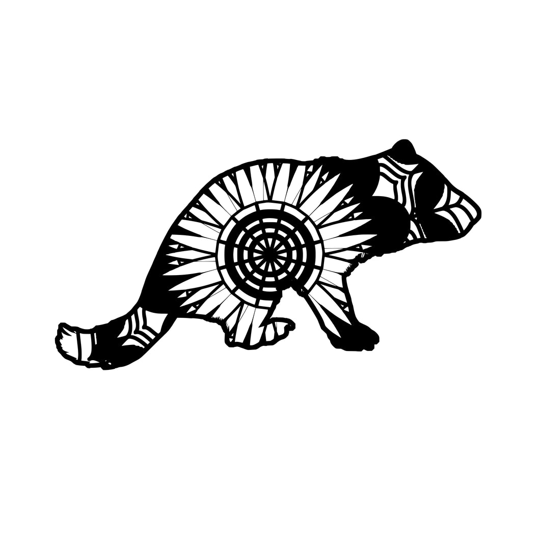 Tasmanian Devil Mandala Animals SVG