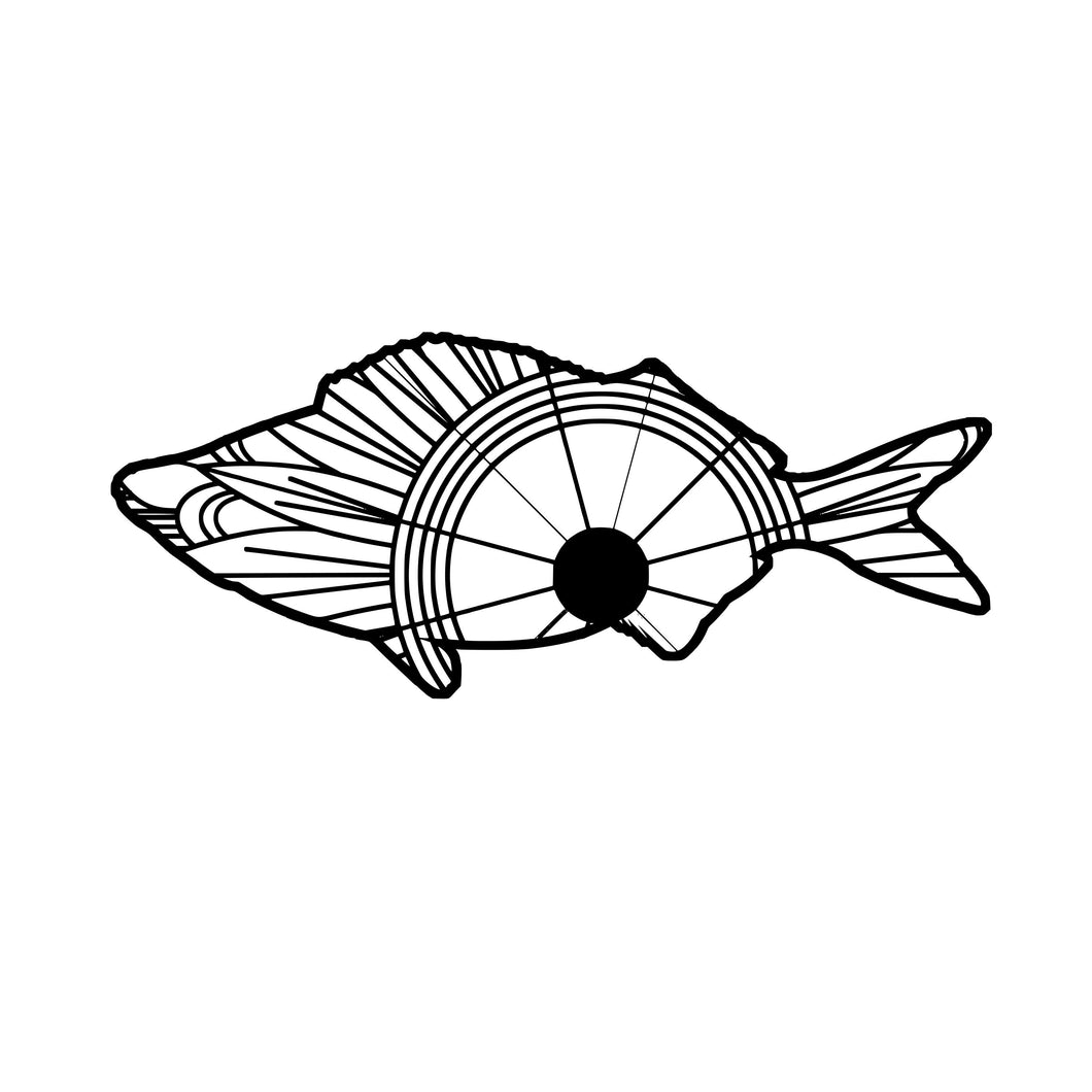 Telescope Fish Mandala SVG