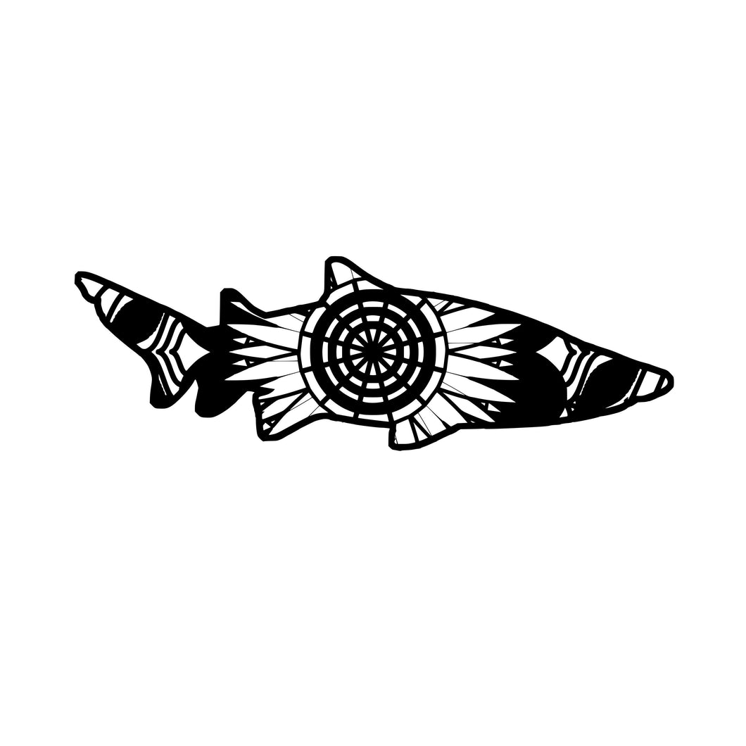 Tiger Shark Mandala Animals SVG
