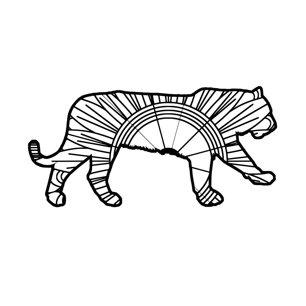 Tiger Mandala SVG