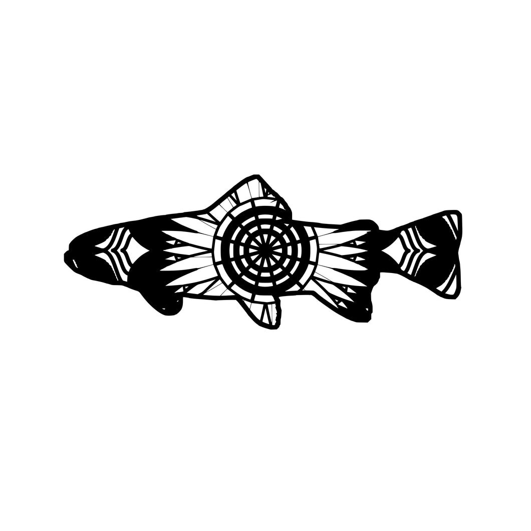 Trout Mandala Animals SVG