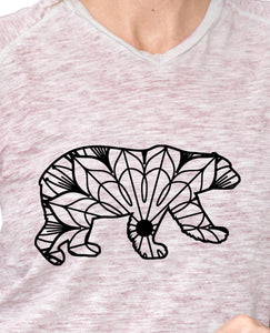 Walking Polar Bear Mandala - Walking Polar Bear Mandala Svg -