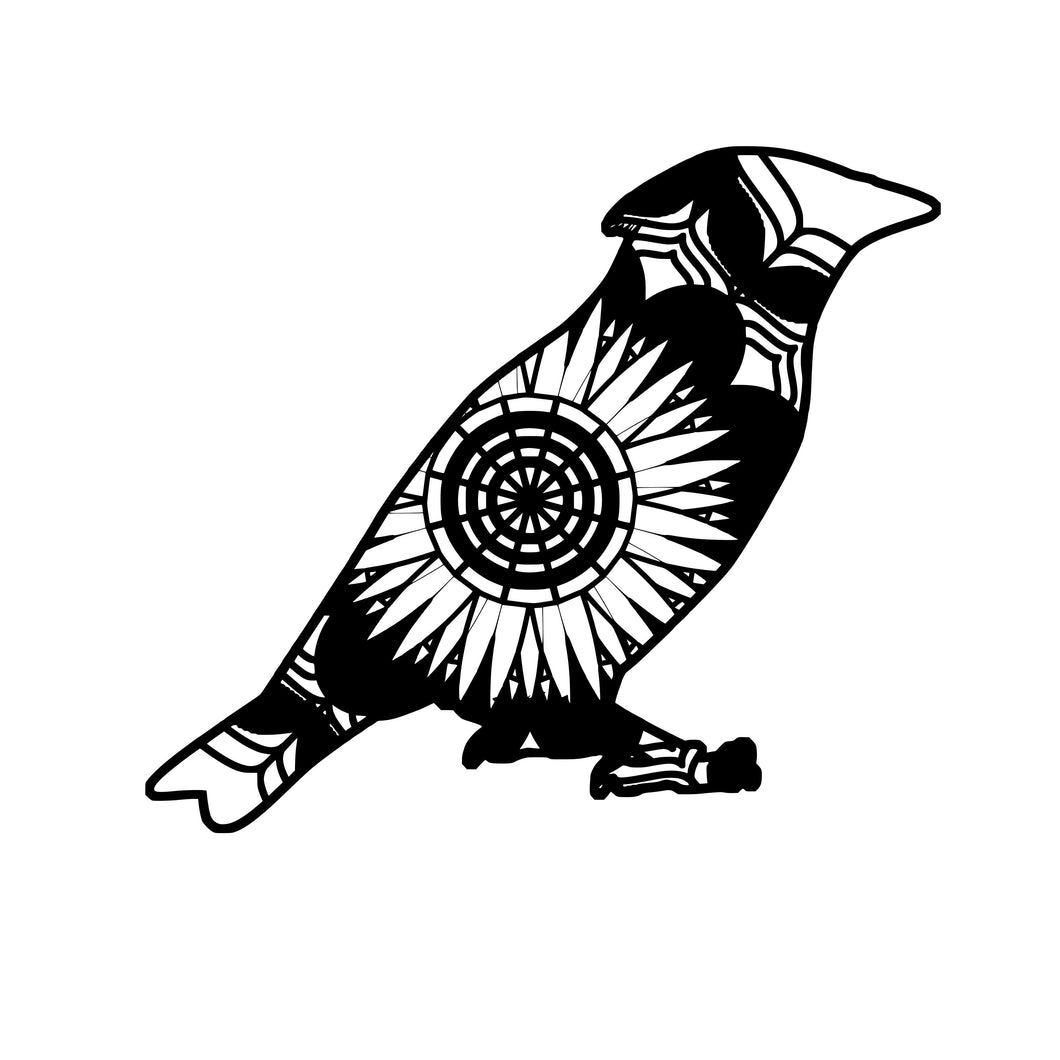 Waxwing Mandala Animals SVG