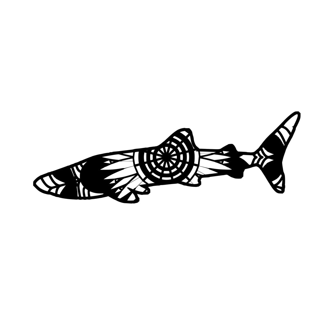 Whale Shark Mandala Animals SVG