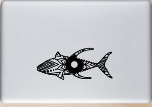 Yellowfin Tuna Mandala Animal SVG