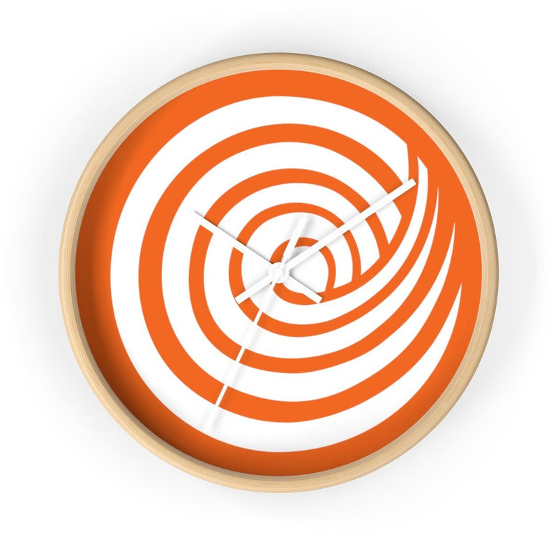 ClickHole Swirl Wall clock Wooden / White from The Onion Store