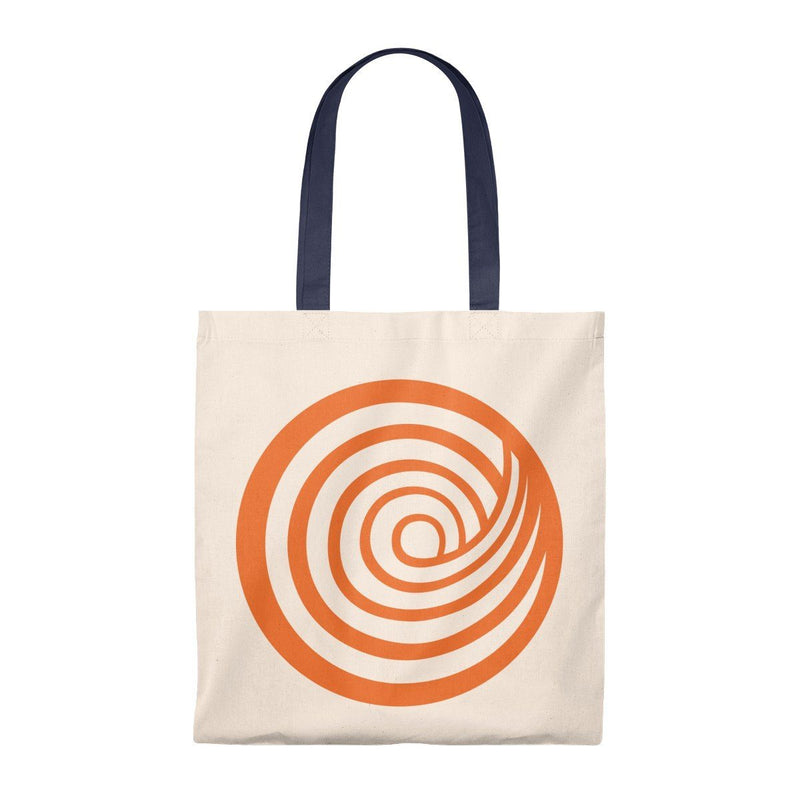 ClickHole Swirl Lightweight Tote Bag Natural/Navy from The Onion Store