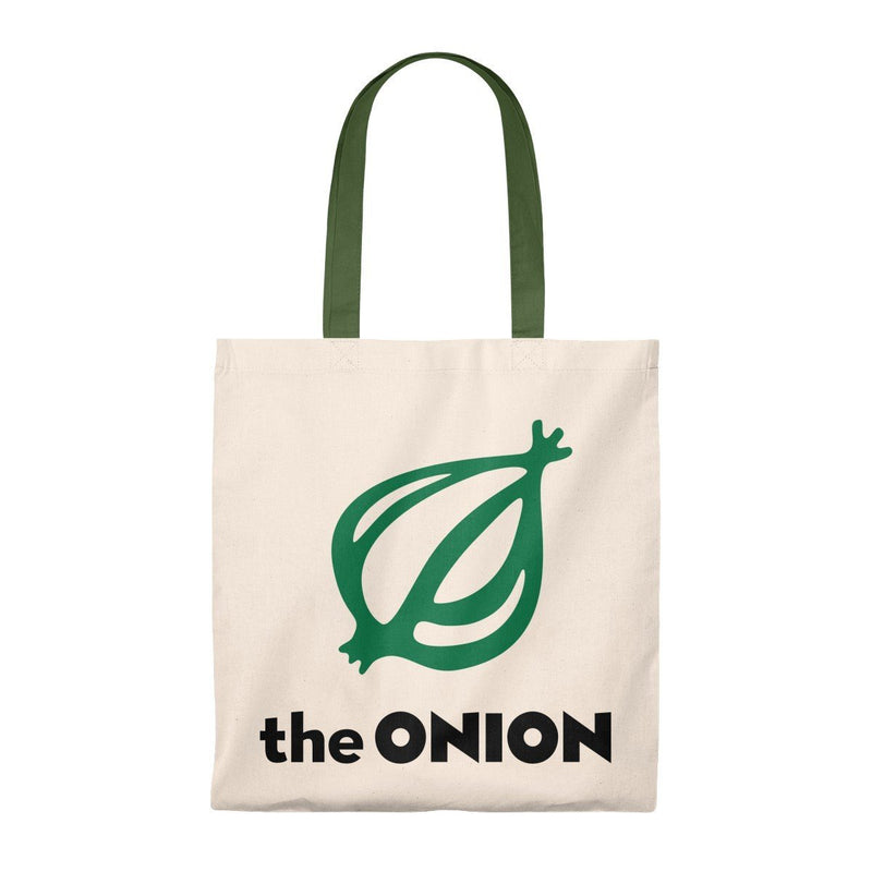 America's Finest Lightweight Tote Bag Natural/Hunter / Small from The Onion Store