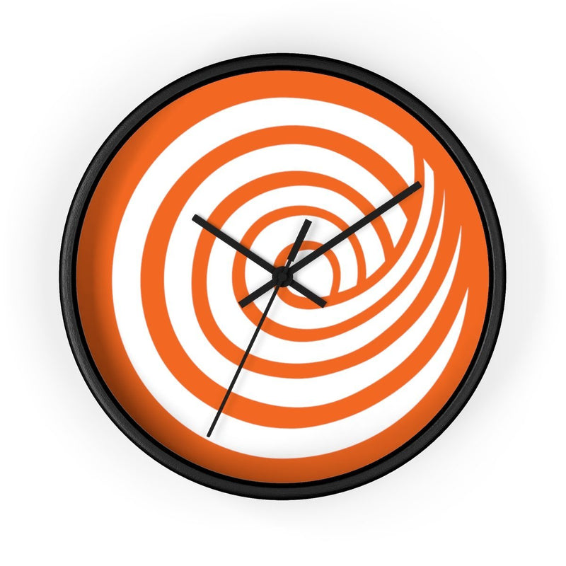 ClickHole Swirl Wall clock Black / Black from The Onion Store