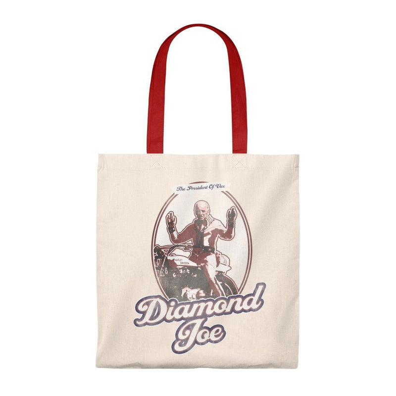 Diamond Joe Biden Lightweight Tote Bag from The Onion Natural/Red from The Onion Store