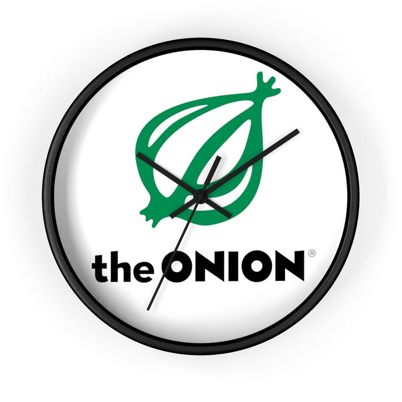 The Onion Logo Wall clock 10 in / Black / Black from The Onion Store