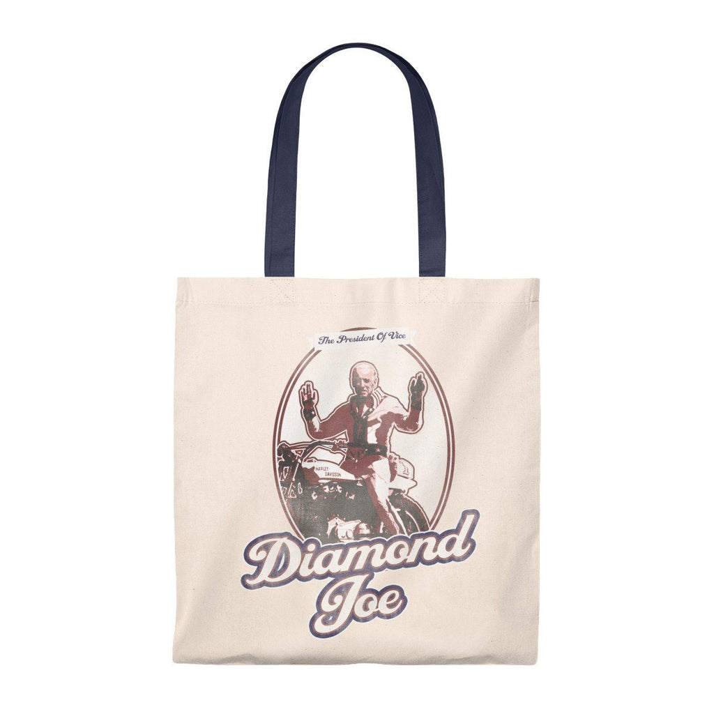 Diamond Joe Biden Lightweight Tote Bag from The Onion Natural/Navy from The Onion Store