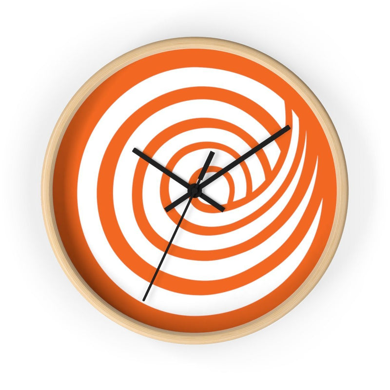 ClickHole Swirl Wall clock Wooden / Black from The Onion Store
