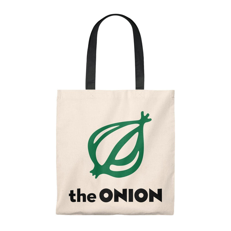 America's Finest Lightweight Tote Bag Natural/Black / Small from The Onion Store