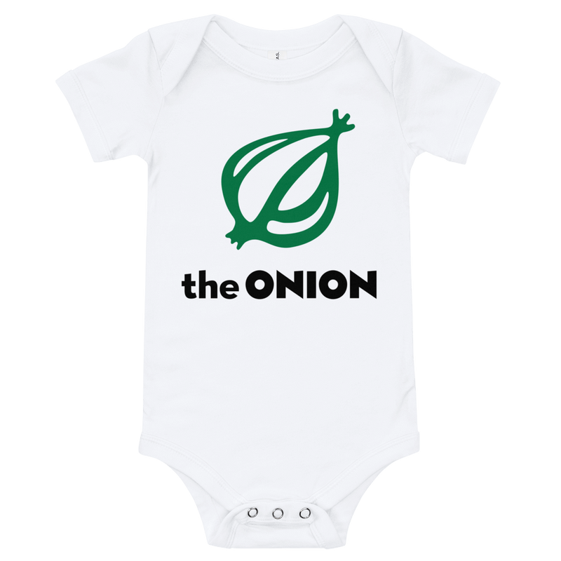 The Onion Logo Onesie White / 18-24m from The Onion Store