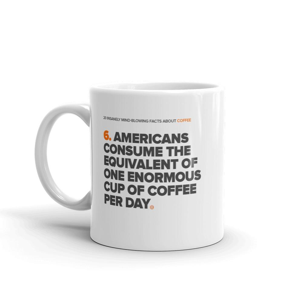 ClickHole's 'One Enormous Cup' Coffee Facts Mug  from The Onion Store