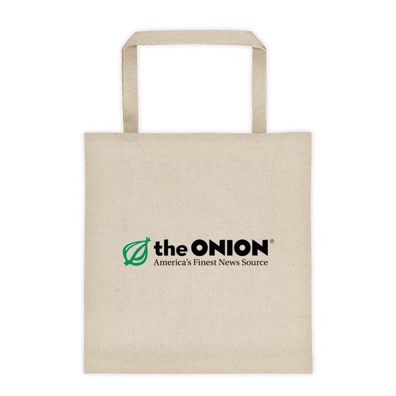 Classic Onion Logo 'America's Finest News Source' Heavy Weight Tote Bag Default Title from The Onion Store