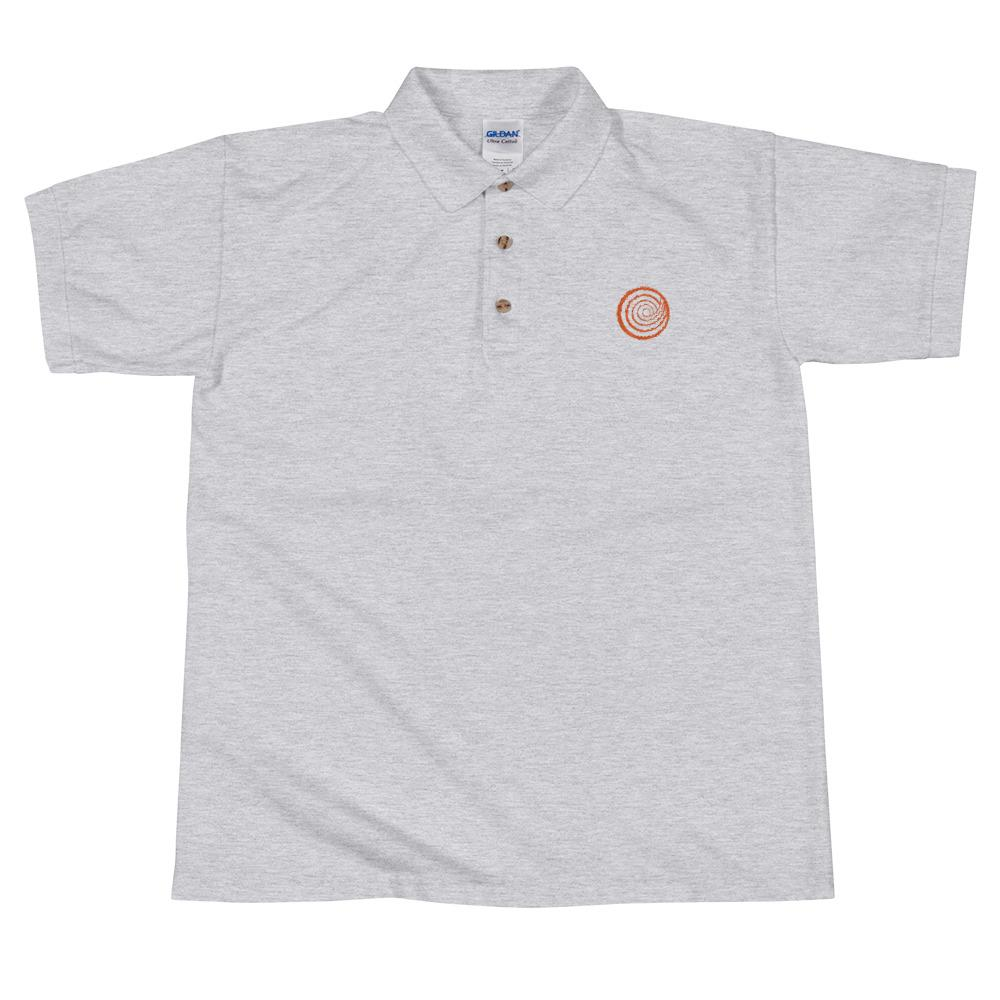 ClickHole Swirl Polo Shirt Sport Grey / 2XL from The Onion Store