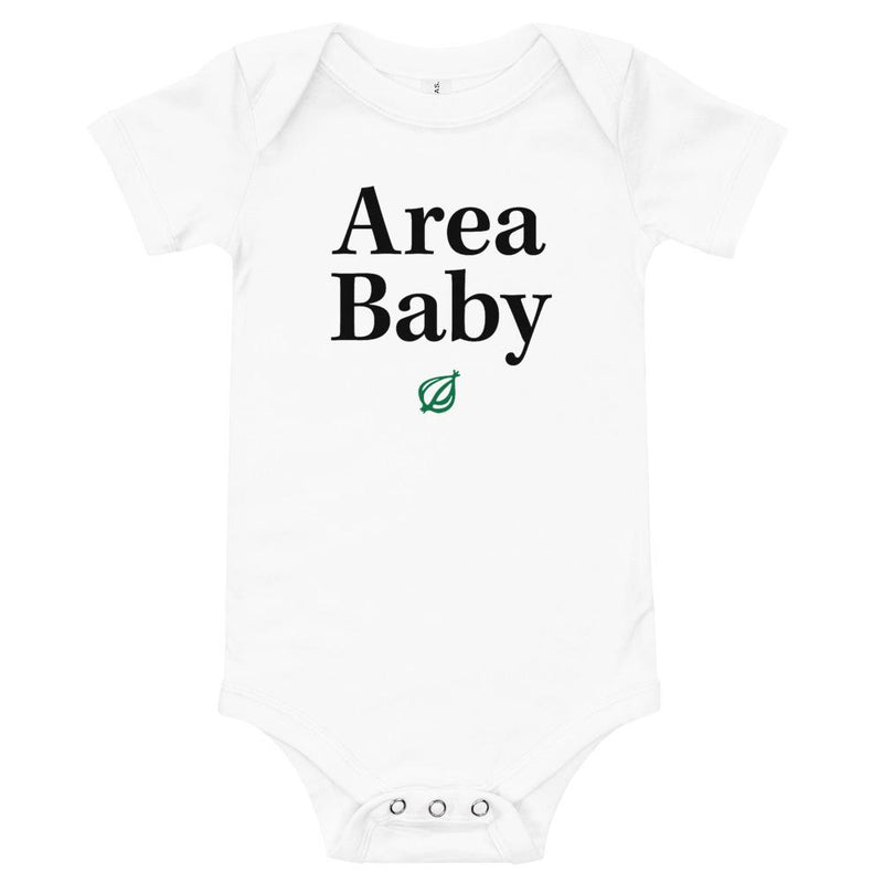 The Onion 'Area Baby' Onesie