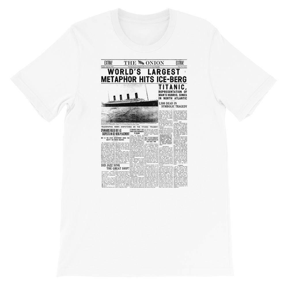 World's Largest Metaphor Onion Front Page T-Shirt