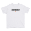 ClickHole's 'Demands soda in a grown man's voice' Kid T-Shirt White / XL from The Onion Store