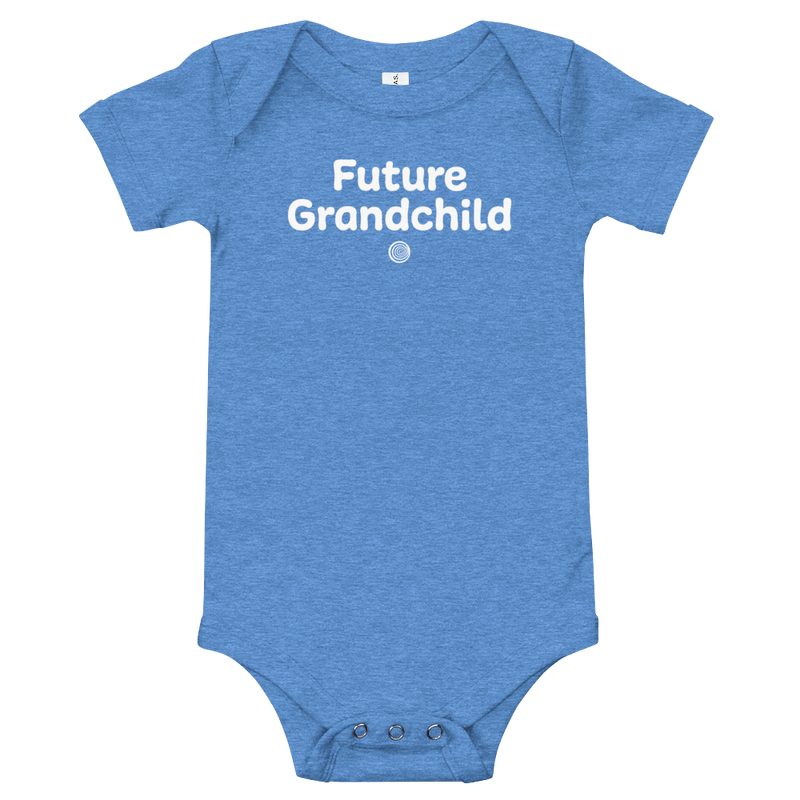 ClickHole's 'Future Grandchild' Onesie Heather Columbia Blue / 18-24m from The Onion Store
