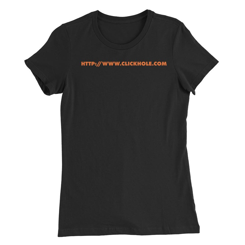 ClickHole URL Women's Cut T-Shirt 2XL from The Onion Store
