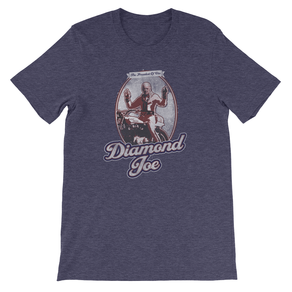 The Onion's Official Diamond Joe Biden Shirt Heather Midnight Navy / 4XL from The Onion Store