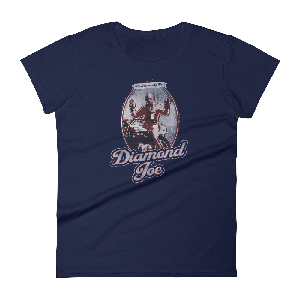 The Onion's Official Diamond Joe Biden Women's Cut Shirt Navy / 2XL from The Onion Store