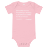 'I Wish My Parents Would Stop Emailing Naked Pictures of Me To Their Friends' Onion Headline Infant Onesie Pink / 18-24m from The Onion Store