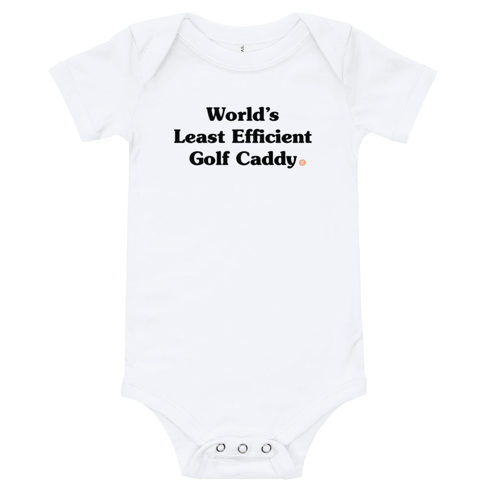 ClickHole's 'World's Least Efficient Golf Caddy' Onesie White / 18-24m from The Onion Store