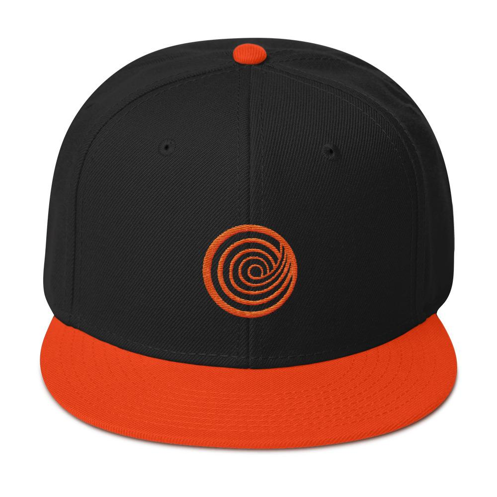 The ClickHole Swirl Baseball Hat Orange / Black / Black from The Onion Store