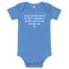 ClickHole's 'NO ONE HAS EXPLAINED TO ME WHAT A GRANDMA IS' Onesie Heather Columbia Blue / 18-24m from The Onion Store
