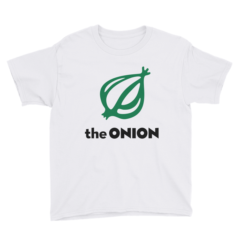 The Onion Logo Kid's T-Shirt White / XL from The Onion Store