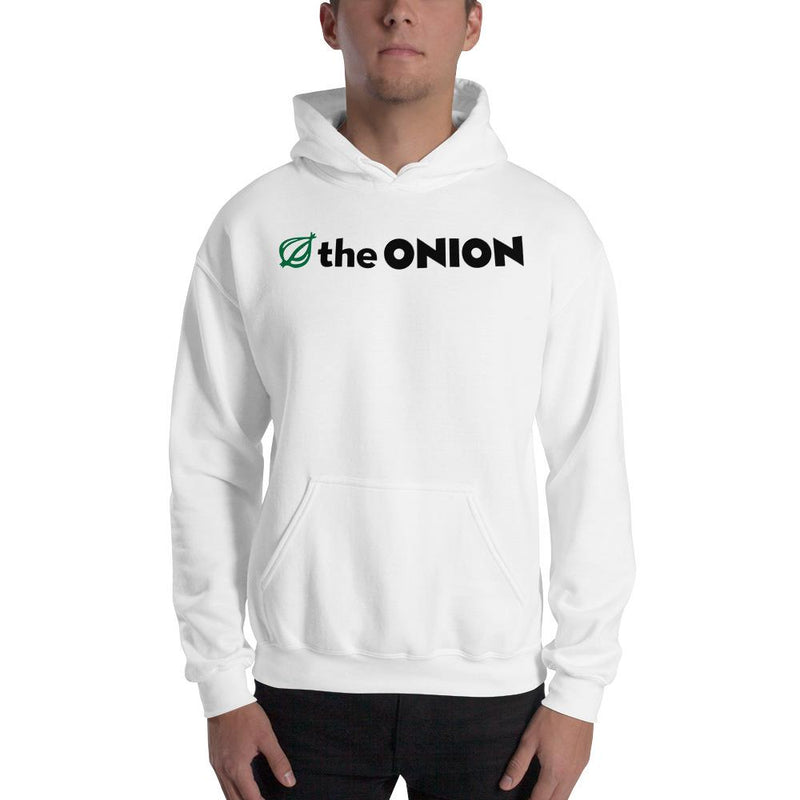 The Onion Logo Hooded Sweatshirt White / 5XL from The Onion Store