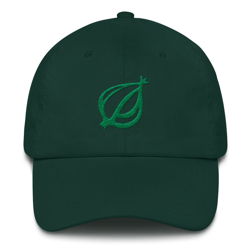 The Onion Dingbat Baseball Dad Hat Spruce and Kiwi from The Onion Store