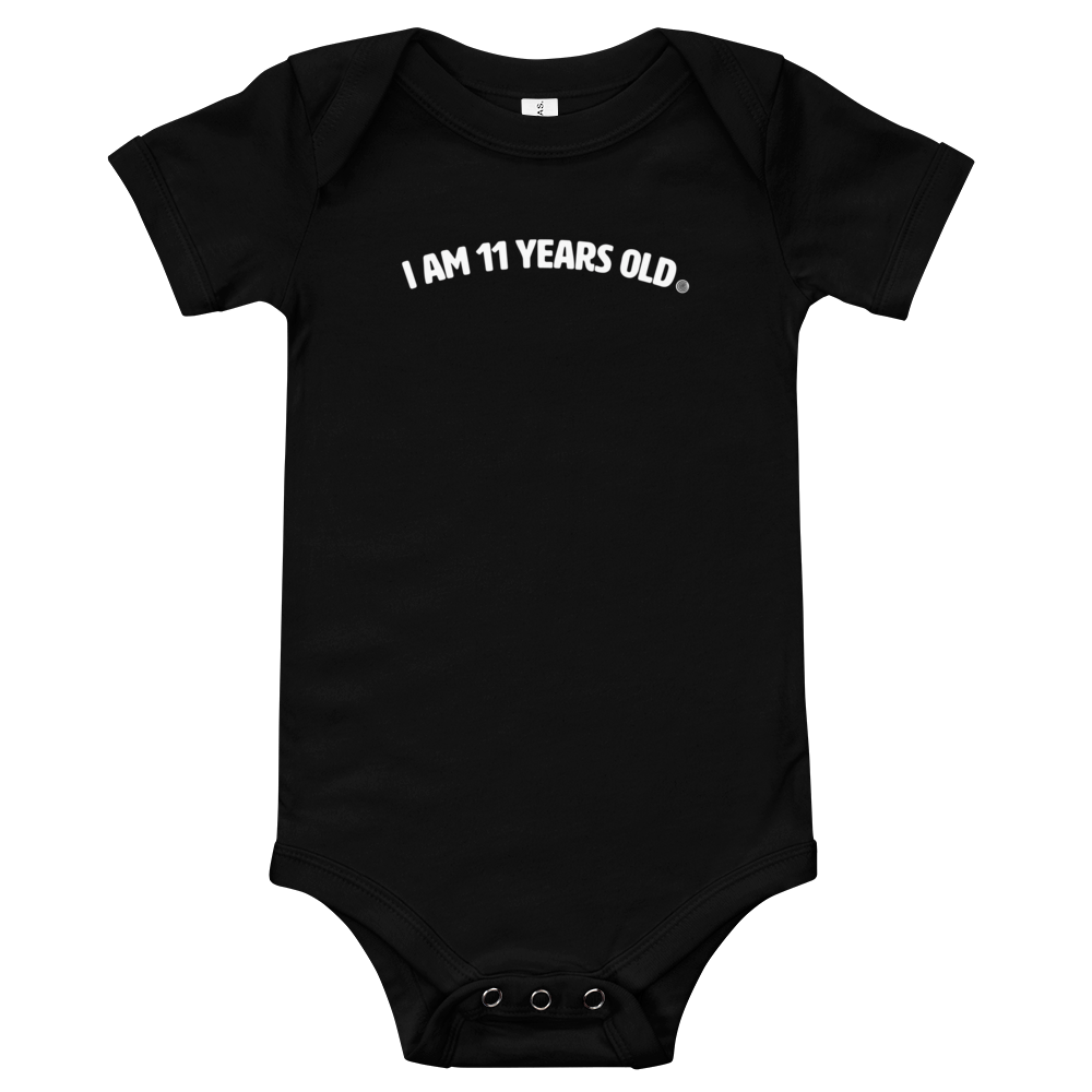 ClickHole's 'I am 11 years old' Onesie Black / 18-24m from The Onion Store