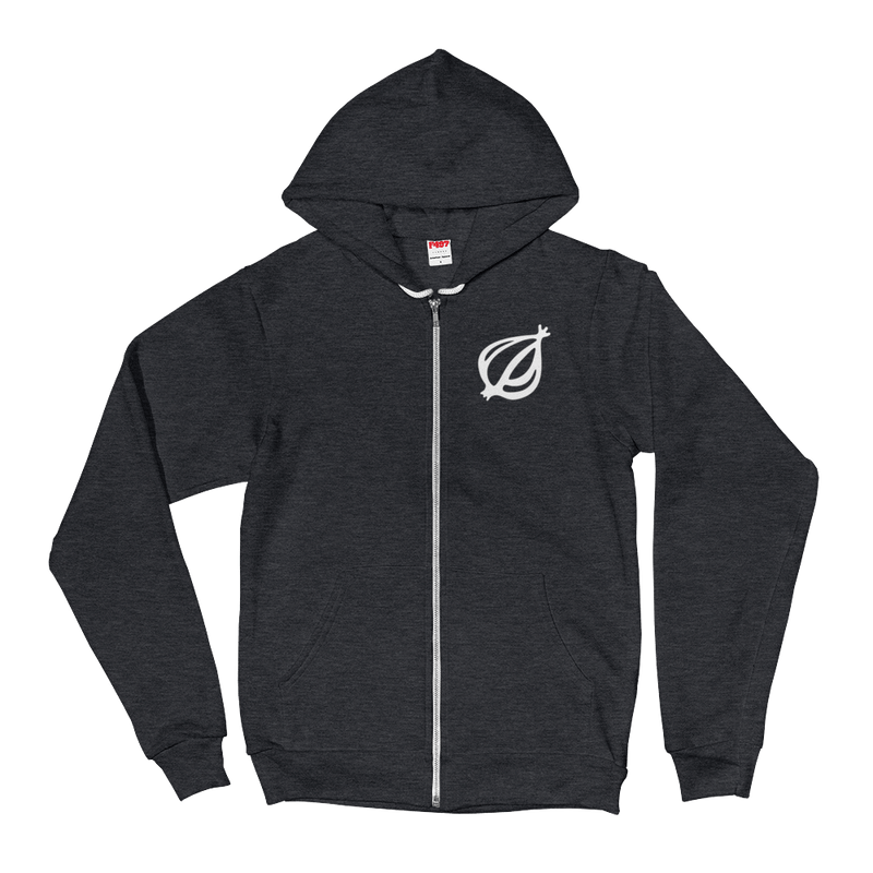 America's Finest Zip-Up Hooded Sweatshirt Dark Heather Grey / 2XL from The Onion Store