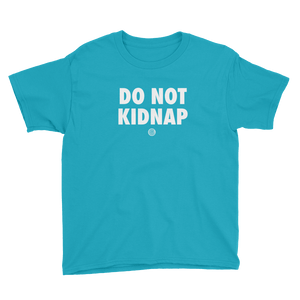 ClickHole's 'DO NOT KIDNAP' Kids T-Shirt Caribbean Blue / XL from The Onion Store