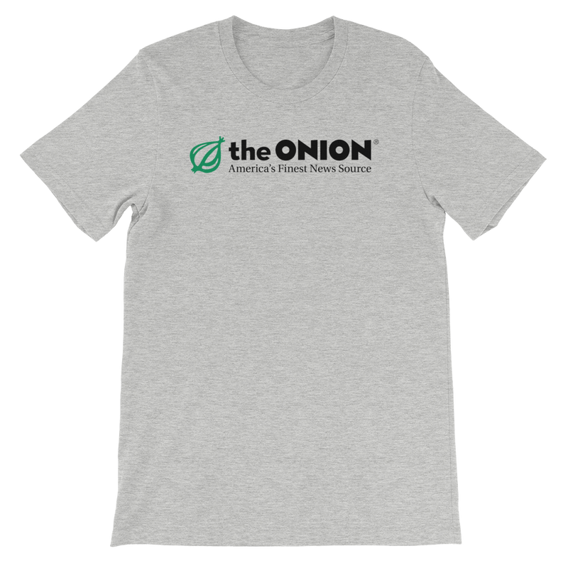 The Onion's 'Classic Logo' T-Shirt Athletic Heather / 4XL from The Onion Store