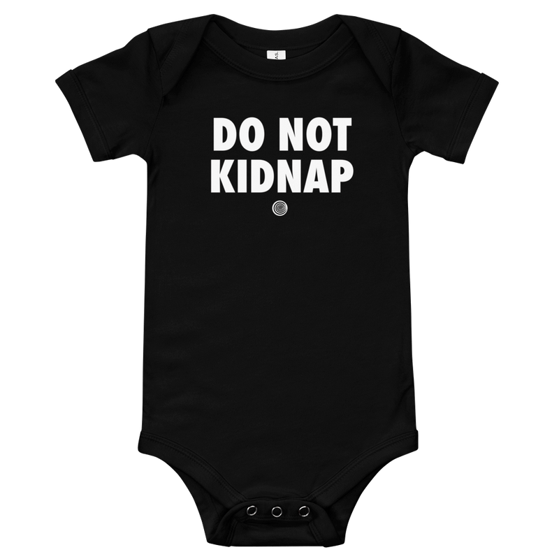 ClickHole's 'DO NOT KIDNAP' Onesie Black / 18-24m from The Onion Store