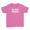 ClickHole's 'DO NOT KIDNAP' Kids T-Shirt Heather Hot Pink / XL from The Onion Store