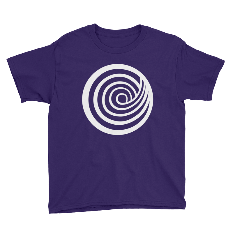 ClickHole Swirl Kids T-Shirt Purple / XL from The Onion Store