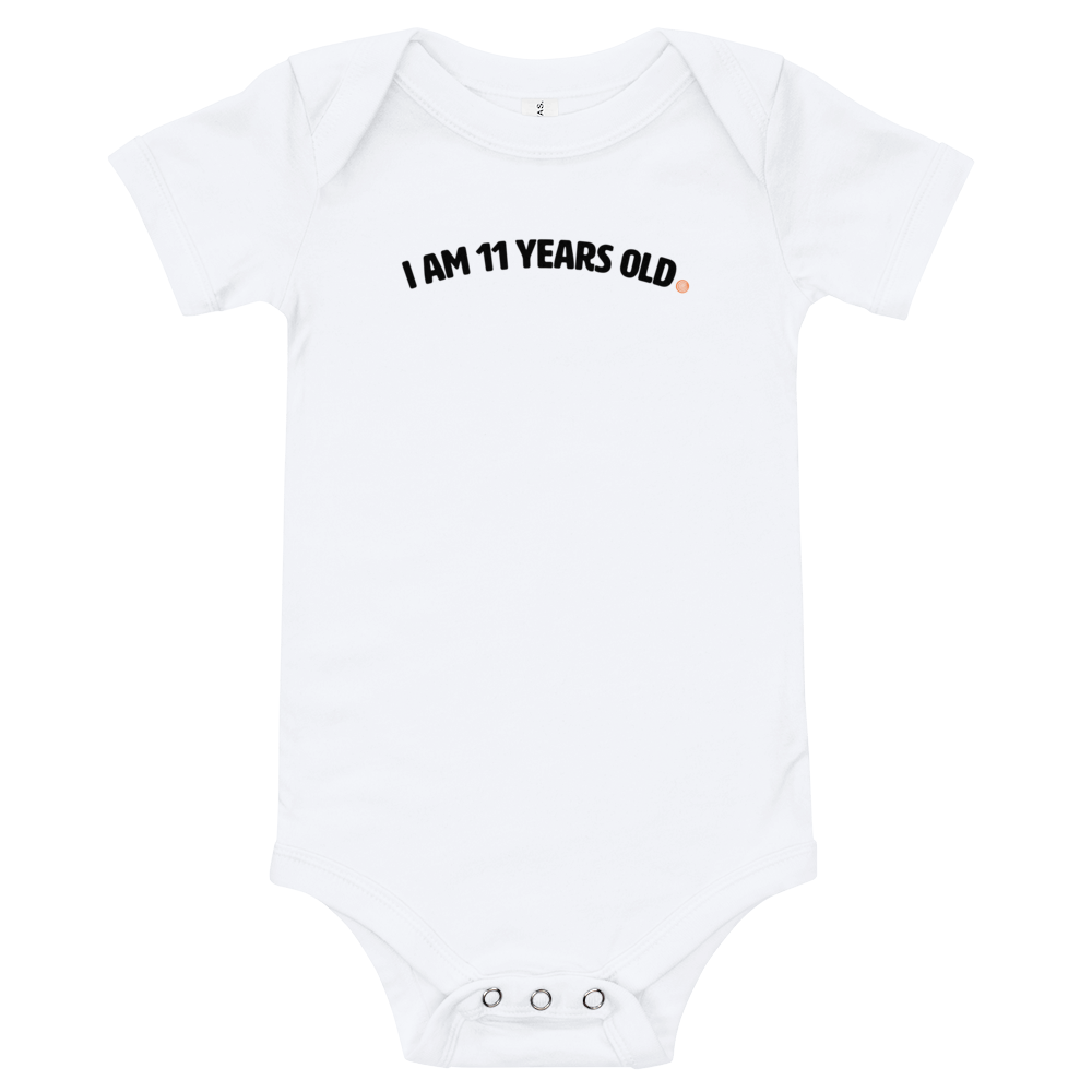 ClickHole's 'I am 11 years old' Onesie White / 18-24m from The Onion Store