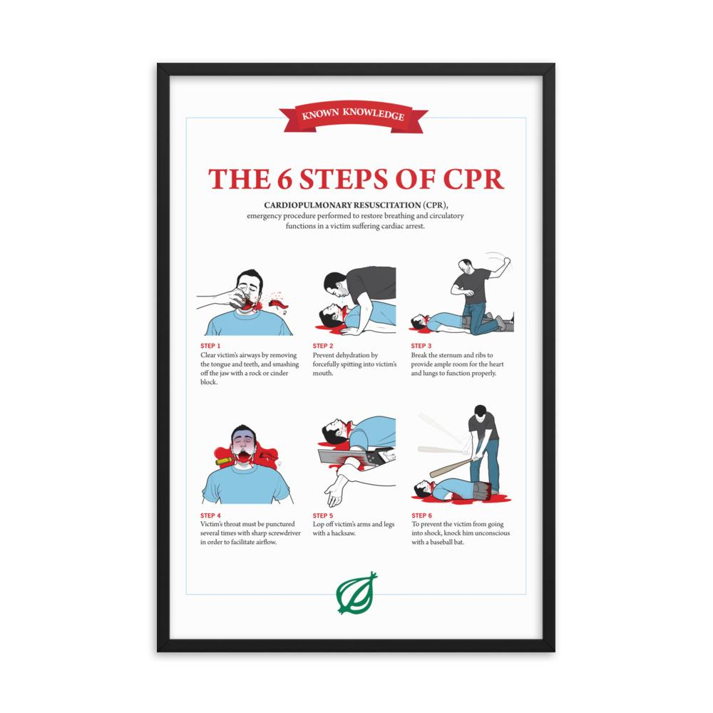Framed CPR Poster from The Onion's 'Book of Known Knowledge' 24×36 from The Onion Store