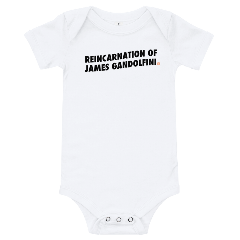 ClickHole's 'REINCARNATION OF JAMES GANDOLFINI' Onesie White / 18-24m from The Onion Store